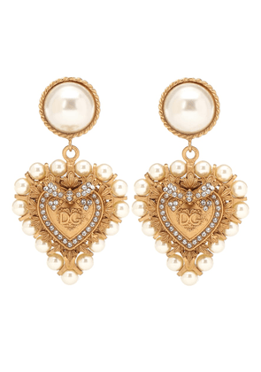 Embellished clip on drop earrings