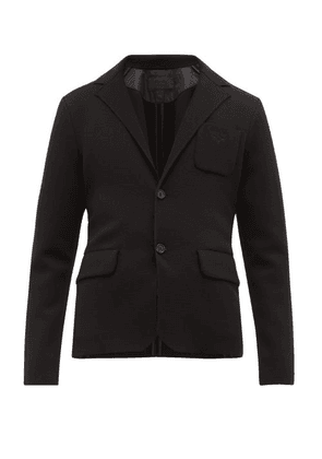 Prada - Single Breasted Knitted Technical Blazer - Mens - Black