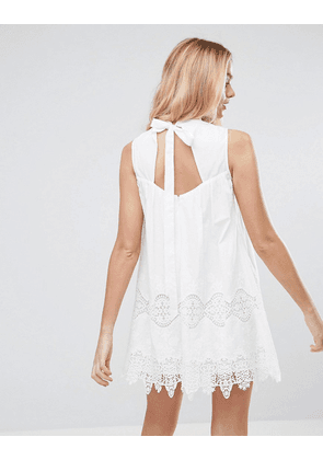 ASOS Ladder and Lace Swing mini dress