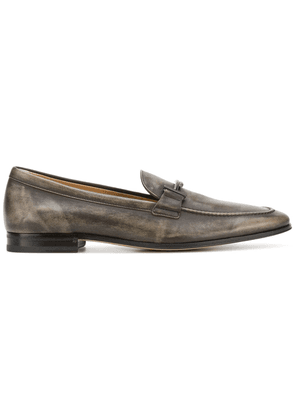 Tod's distressed Double T loafers - Brown
