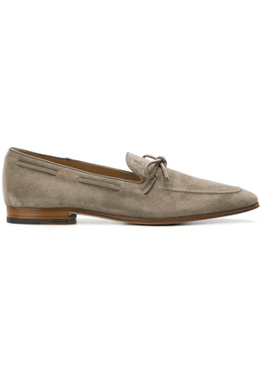 Tod's bow detail loafers - Grey
