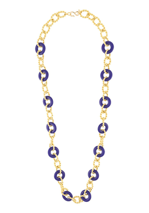 Kenneth Jay Lane knotted necklace - Gold
