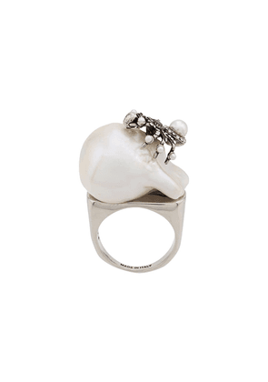 Alexander McQueen spider pearl ring - Silver
