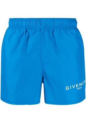Givenchy logo print swim shorts - Blue