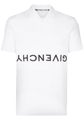 Givenchy reverse logo-embroidered polo shirt - White