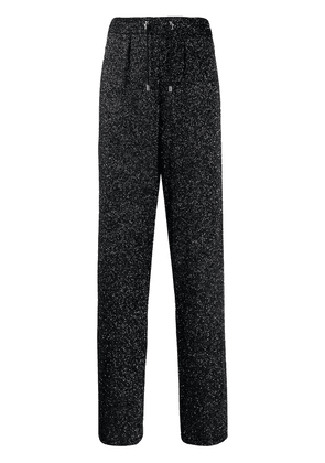 Balmain glittery trousers - Black