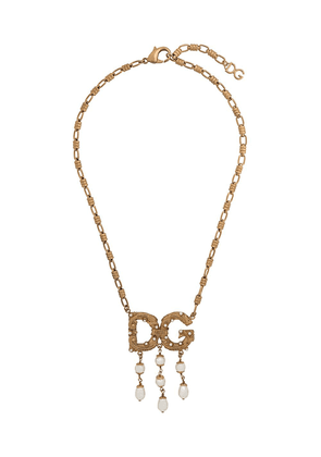 Dolce & Gabbana logo pendant necklace - Gold
