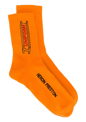 Heron Preston Uniform ribbed socks - Orange