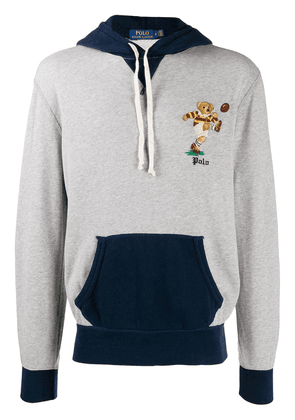 Polo Ralph Lauren hoodie with embroidered detail - Grey