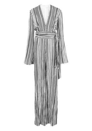 Galvan striped all in one jumpsuit - Black