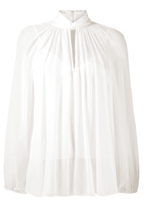 Givenchy knotted blouse - White