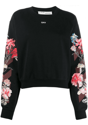 Off-White floral logo print sweatshirt - Black
