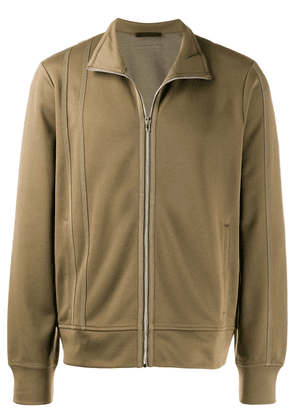 Helmut Lang zipped jacket with striped detail - Green