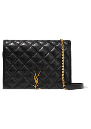SAINT LAURENT - Becky Small Quilted Textured-leather Shoulder Bag - Black