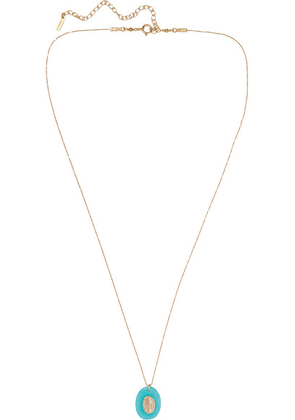 Chan Luu - Gold-plated Amazonite Necklace - Blue
