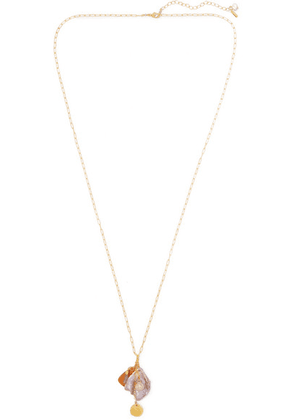 Chan Luu - Gold-plated, Pearl And Crystal Necklace - one size