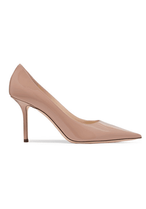 Jimmy Choo - Love 85 Patent-leather Pumps - Beige