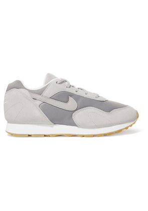 Nike - Outburst Suede, Leather And Mesh Sneakers - Gray