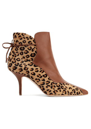 Malone Souliers - Jordan 70 Leopard-print Calf Hair And Leather Ankle Boots - Leopard print