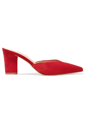 aeyde - Signe Suede Mules - Red