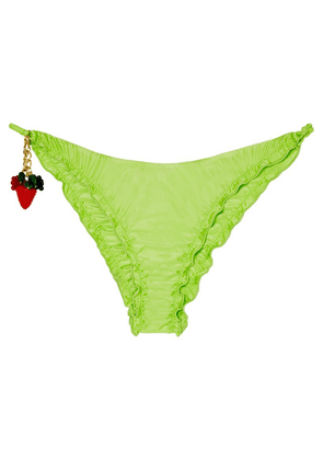 Agent Provocateur - Berry Ruched Bikini Briefs - Lime green