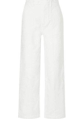 Alex Mill - Cotton-blend Twill Wide-leg Pants - White