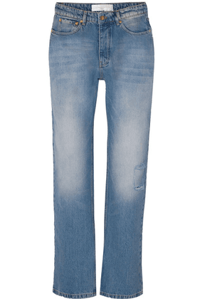 Victoria, Victoria Beckham - Arizona Distressed Straight-leg Jeans - Mid denim