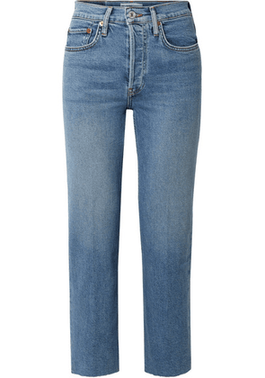 RE/DONE - Originals Stove Pipe Comfort Stretch High-rise Straight-leg Jeans - Mid denim