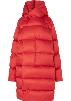 Rick Owens - Oversized Hooded Quilted Shell Down Coat - Red