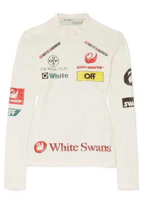 Off-White - Printed Stretch-jersey Top - IT44