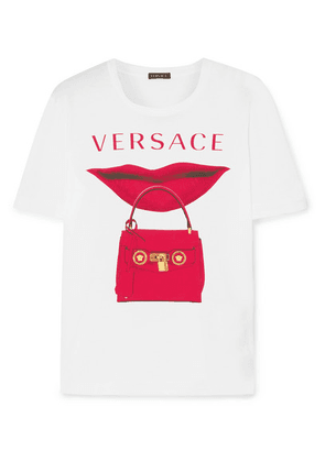 Versace - Printed Cotton-jersey T-shirt - White