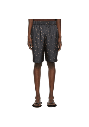 Tibi SSENSE Exclusive Black Polka Dot Ant Shorts