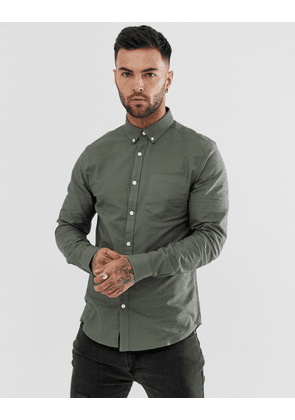 New Look oxford shirt in khaki