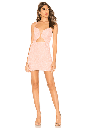 by the way. Bria Lace Cut Out Dress in Pink. Size L.