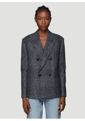 Saint Laurent Double Breasted Blazer Jacket in Grey size FR - 38