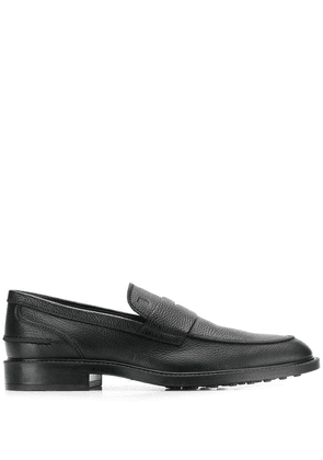 Tod's pebbled loafers - Black