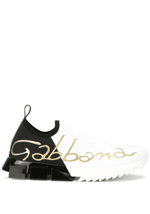 Dolce & Gabbana stretch mesh Sorrento sneakers - White
