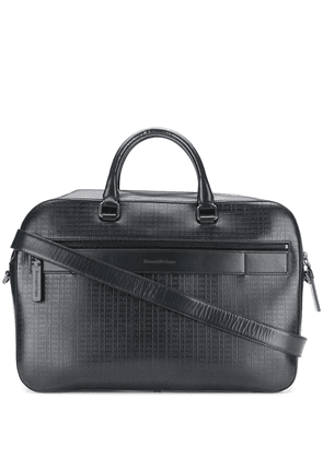 Ermenegildo Zegna embossed detail laptop bag - Blue