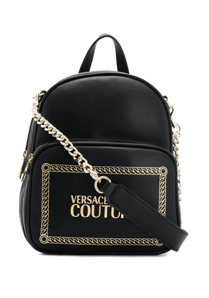 Versace Jeans Couture logo-print chain-strap backpack - Black