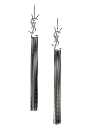 Saint Laurent monogram tassel earrings - Metallic