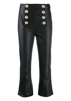 Balmain flared cropped trousers - Black