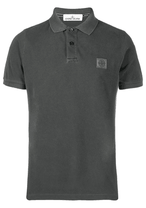 Stone Island chest patch polo shirt - Grey