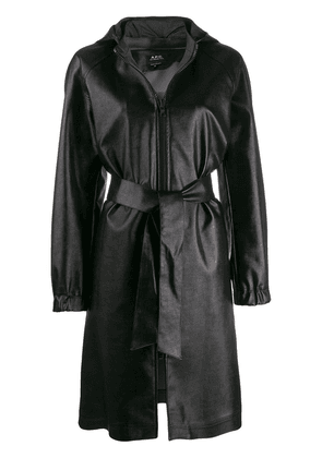 A.P.C. hooded trench coat - Black