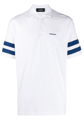 Dsquared2 logo embroidered polo shirt - White
