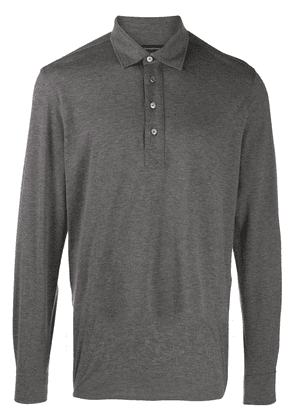 Ermenegildo Zegna longsleeved polo shirt - Grey