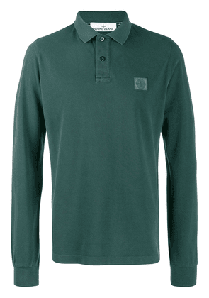 Stone Island chest patch polo shirt - Green
