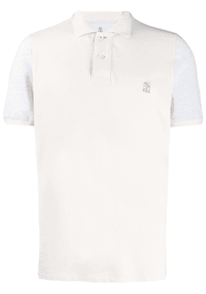 Brunello Cucinelli mottled polo shirt - Neutrals