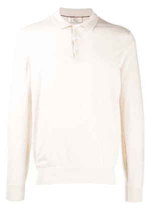 Brunello Cucinelli longsleeved polo shirt - Neutrals