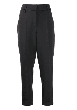 Luisa Cerano tailored cropped trousers - Black