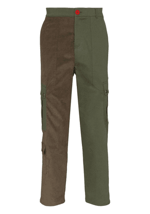 78 Stitches panelled cargo trousers - Green